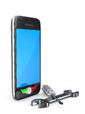 Phone repair on white background. Isolated 3D Stock Photo