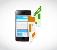 Phone responsive concept and pages Stock Photography