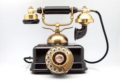 Phone retro. With golden parts stock photography