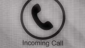 Phone ring icon animation. Incoming call. Animation Call Icon. Handmade scribble animation of a phone ringing. Animated royalty free illustration
