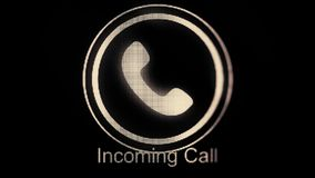 Phone ring icon animation. Incoming call. Animation Call Icon. Handmade scribble animation of a phone ringing. Animated vector illustration