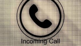 Phone Call Icon  Animation Of Black And White Phone Call