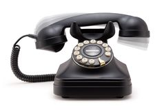 Phone Ringing off the Hook. On white background stock photo
