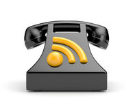 Phone with RSS symbol Royalty Free Stock Image
