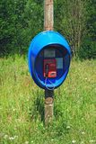 Phone in a rural field Royalty Free Stock Photography