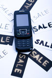 Phone for sale Royalty Free Stock Photography