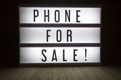 Phone for sale! royalty free stock image