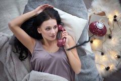 phone samtal Royaltyfria Foton
