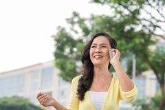 phone samtal Fotografering för Bildbyråer
