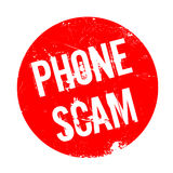 Phone Scam rubber stamp Stock Image