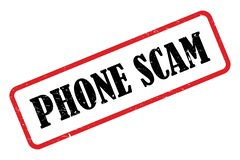 Phone scam stamp. On white background royalty free illustration
