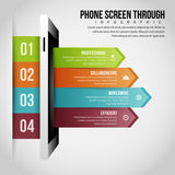 Phone Screen Through Infographic Royalty Free Stock Image