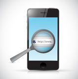 Phone search bar online illustration Royalty Free Stock Images