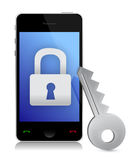 Phone security concept Stock Image