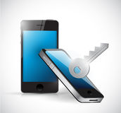 Phone security concept illustration design Stock Photo