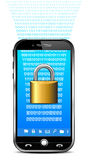 Phone Security Concept - Lock Data Royalty Free Stock Photo
