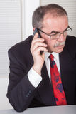 On the phone Stock Photography