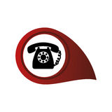 Phone service button icon Royalty Free Stock Images