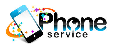 Phone Service Logo Royalty Free Stock Photo