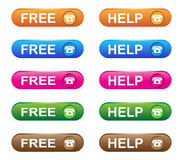 Phone services buttons stock illustration