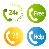 Phone services icons Royalty Free Stock Image