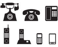 Phone set Royalty Free Stock Image