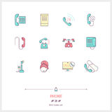 Phone set. Thin line art icons. Stock Photography