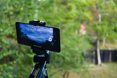 Timelapse. A phone set to do a timelapse Royalty Free Stock Photos