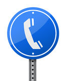 Phone sign Royalty Free Stock Photos