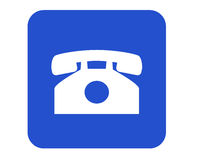 Phone sign Royalty Free Stock Image