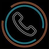 Phone sign icon- Call center, communication stock illustration