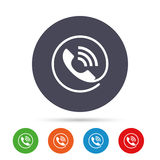 Phone sign icon. Call support symbol. Royalty Free Stock Photos