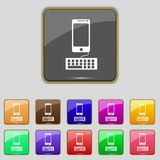 Phone sign icon. Support symbol. Call center. Set Stock Image