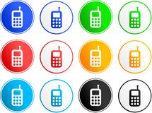 Phone sign icons Stock Images