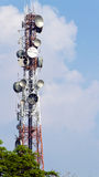 Phone signal towers Stock Photography