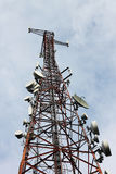 Phone signal transmitter tower Stock Image