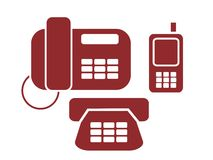Phone signs Stock Image