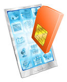 Phone SIM card icon concept Stock Image