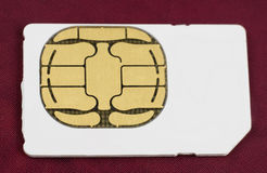 Phone sim card isolated Royalty Free Stock Photo