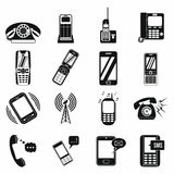 Phone simple icons Royalty Free Stock Photography