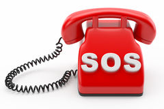 Phone SOS line concept Stock Photo