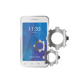 Phone spare parts for repairs. support and. Maintenance in realistic style Royalty Free Stock Photography