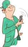 Phone speaking doctor Royalty Free Stock Photo