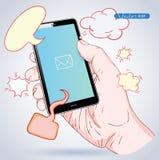 Phone Speech Bubble. vector illustration. Stock Image