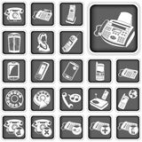 Phone squared buttons Royalty Free Stock Photo