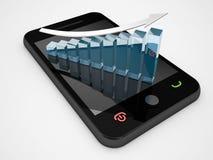 Phone statistics Stock Photo