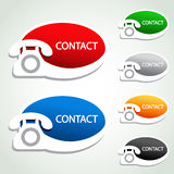 Phone stickers - contact icons Stock Image