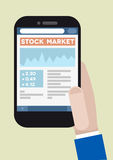 Phone stock market Stock Photography