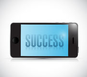 Phone success illustration design Royalty Free Stock Images