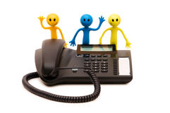 Phone support concept Stock Image